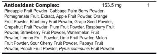 gfuel antioxidants
