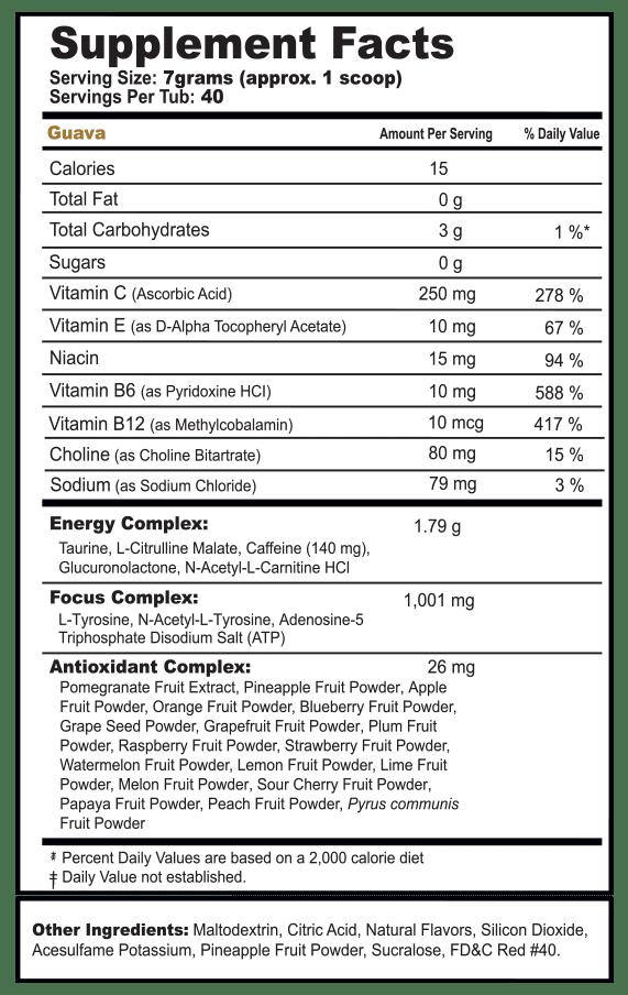 castro guava label