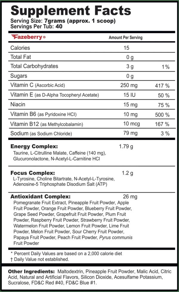 gfuel fazeberry label